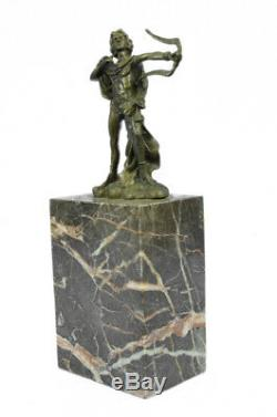 Apollo Signed Bronze Sculpture Figurine Statue Marble Base Figurine Art Nouveau