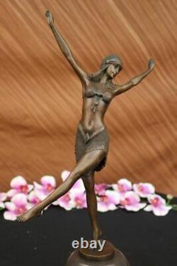 Art Deco/art Nouveau Bronze Marble Sculpture Signed Dh Chiparus Hand Made