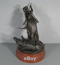 Bouchardon Sculpture Ancient Bronze Boar Diane Huntress Foundry Thiebaut