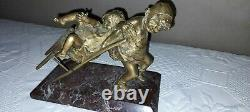 Bronze On Marble Ayats Juan Clara Numbered And Signed