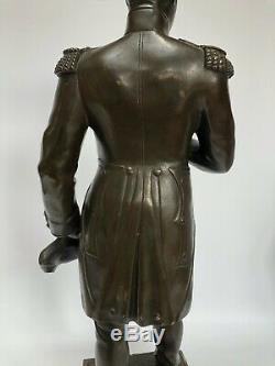 Bronze Patina Napoleon By Hamani 19th Chocolatee 50 CM C2586 Marble Base