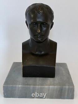 Bronze Subject Napoleon Bonaparte Sign Canova Support Marble 19th Bust C2720