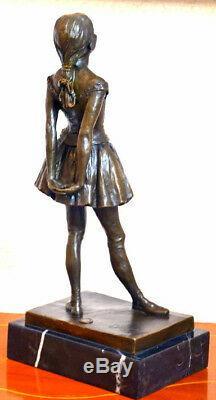 Bronzefigur-junge Dancer By Degas Bronze Signed On Marble Pedestal