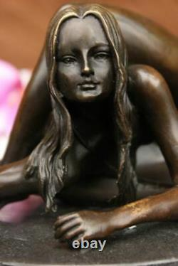 Chair Contortionists Dancer Signé Collector Bronze Edition Marble Sculpture
