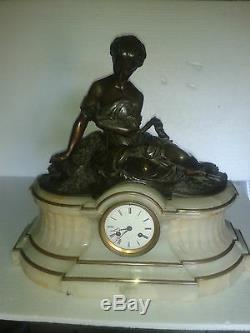 Clock Style LXVI XIX Raingo Freres Marble And Bronze Women Sign H. Picard