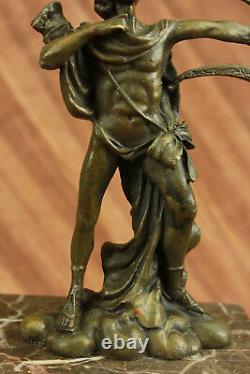 Done Bronze Sculpture Sale Base Marble Apollo Milo Original Signed Figure