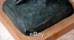 Figure Bronze Signature Signed With Adam Rodin On Marble Base 6.8 KG