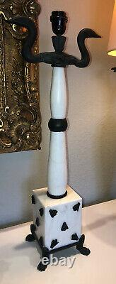 Fondica - Mathias Marble Lamp And Bronze Very Rare, Signed And Numbered