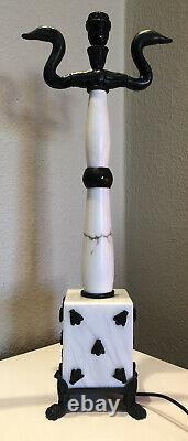 Fondica & Mathias Very Rare Marble And Bronze Lamp, Signed And Numbered