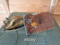 Former Bronze And Marble Blotting Paper Press Signed Leroyer