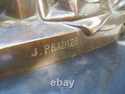 Former Bronze Marble Clock Signed James Pradier Statue 1790-1852 Piéta