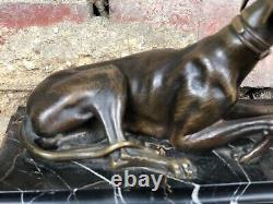 Golden Bronze Levier On Marble Base Signed By G. Carnari