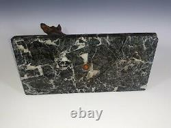 Laplanche Grand Bronze Animalier Chiene Berger German On Marber 30cm Hunting