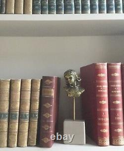Little Girl Bust. Gilted Bronze/marble Base. Monogrammed Pm. 10x7x5. Height 25