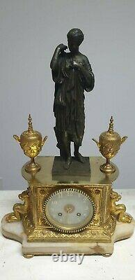 Marble Clock Pendulum Clocks And Bronze Candlesticks Estatuet Sign