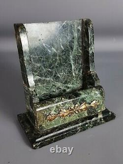 Office Set 5 Parts Marble & Bronze Period Early Nineteenth Century, Signed