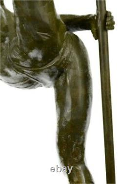 Original Signed Abstract Nu Woman Bronze Statue Sculpture Figure Marble Base