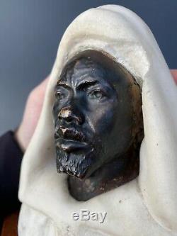 Paul Loiseau Rousseau (1861-1927) Bronze And Marble Bust Salem Orientalist