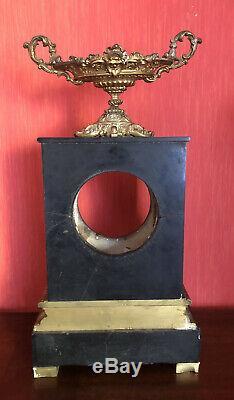 Pendulum Marble / Bronze Dore Movement Fil A Sign In Paris XIX ° Barbot