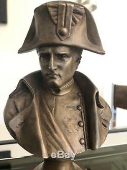 Pinedo Old Bronze Bust Of Napoleon Sign Marble