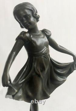 Preiss Signed Brown Patina Prima Ballerina Bronze Sculpture Marble Figure Sale