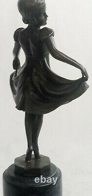 Preiss Signed Marron Prima Skate Ballerine Bronze Sculpture Marble Figure Sale
