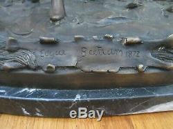 Sculpture Bronze Horse Winner The Edgar Bertram 20.4 KG Marble Hippisme