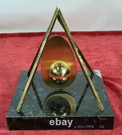 Sculpture In Bronze. Signed J. Pallares. Base In Marble. 1982