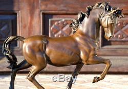 Sculpture / The De Medici Bronze Horse On Marble Base Signed -nachguss