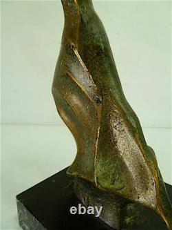 Sculpture Woman Modern Art Bronze Marble Robert Seguineau XX 20th