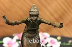 Signed D. H Chiparus, Bronze Art Deco Dancer Sculpture New Marble Figure
