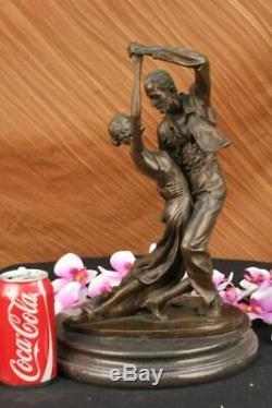 Signed Edgar Degas Dancer Tango Passion Dance Bronze Marble Statue D