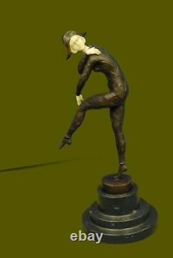 Signed H Chiparus Napoleon Dancer Bronze Marble Statue Sculpture Figure Balance