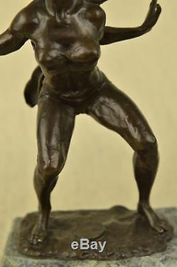 Signed Italian Artist Vitaleh West Art Bronze Marble Allure Chair Beautiful Statue