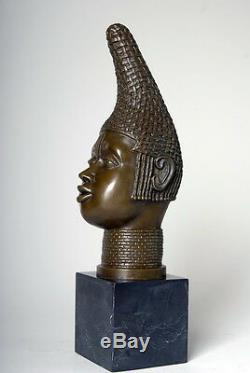 Signed Milo Beautiful Sculpture. Bust True Bronze And Marble