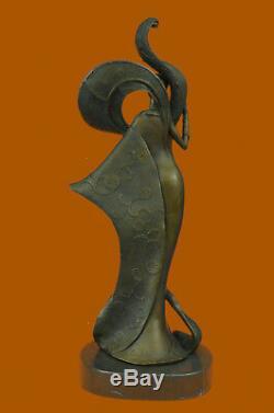 Signed Original Kassin A Tribute To Erte Bronze Sculpture Marble Figurine Deco