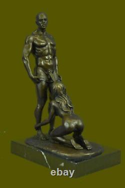 Signed Original Mavchi Oral Pleasure Masterpiece Bronze Sculpture Marble Statue