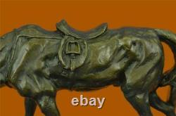 Signed Original Milo Dog And A Horse Friendship Bronze Marble Sculpture Statue
