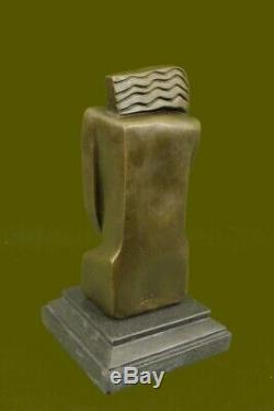 Signed Salvador Dali Abstract Female Bronze Marble Base Figurine Figurine Fonte