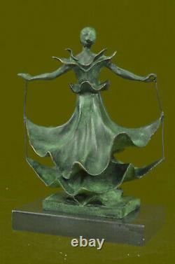 Signed Salvador Dali Title Dalinian Dancer Abstract Marble Bronze Sculpture Deal