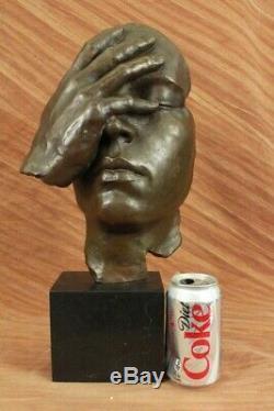 Signed Salvador Dali Title Shame On Me Bronze Sculpture Abstract Marble Figurine