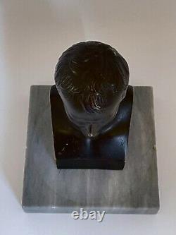 Subject Bronze Napoleon Bonaparte Sign Canova Support Marble 19th Bust C2720