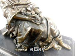 Superb Old Bronze On Marble Sign Moreau