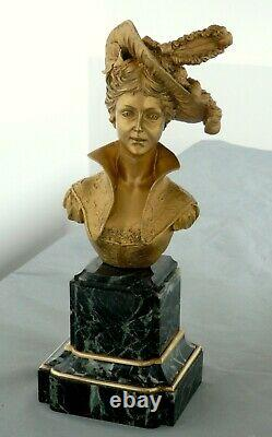 Very Beautiful Bronze Bust Signed