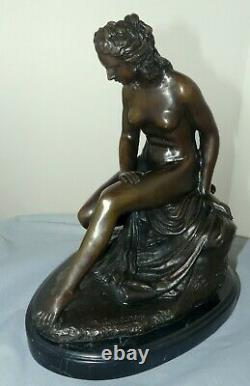 Very Beautiful Bronze Nude Signed C Allegrain