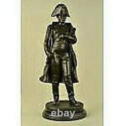 Vintage Rare Bronze Signed Napoleon Bonaparte Bust Statue Sculpture Marble Background