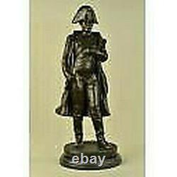 Vintage Rare Bronze Signed Napoleon Bonaparte Bust Statue Sculpture Marble Base