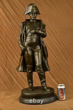 Vintage Rare Signed Bronze Bust Of Napoleon Bonaparte Statue Sculpture Marble Base
