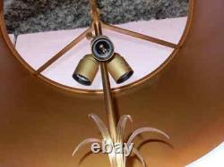 1950/70 Paire de Lampes en Bronze et uf en Marbre Portor Signée Charles