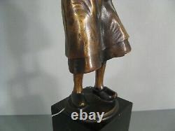 Amour Maternel Mère Et Enfant Ancienne Sculpture Bronze Signé Schmidt-cassel
